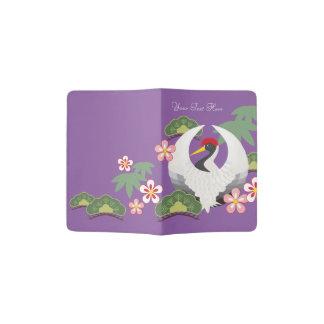 Japanese Good Luck Symbols Cool Elegant Purple Passport Holder