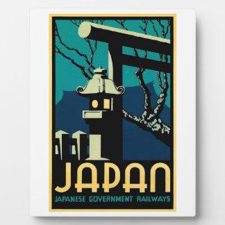 Japanese Government Railways Vintage World Travel Plaque