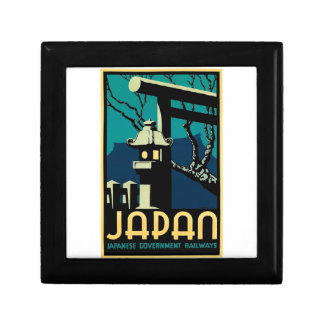 Japanese Government Railways Vintage World Travel Small Square Gift Box
