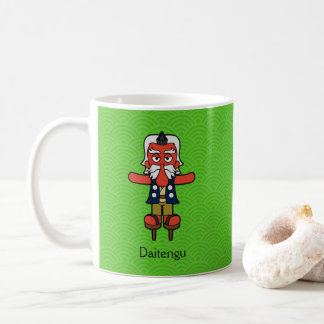 Japanese Great Tengu Warrior: Cartoon Youkai Coffee Mug