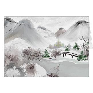 Japanese Haiku Art Greeting Card