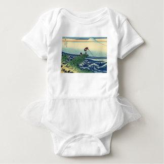 Japanese Hokusai Fuji View Landscape Baby Bodysuit