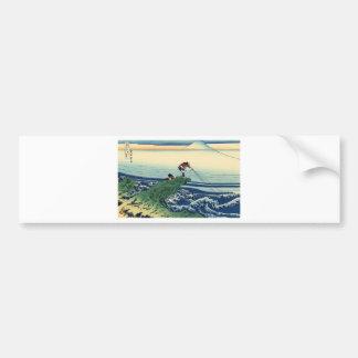 Japanese Hokusai Fuji View Landscape Bumper Sticker