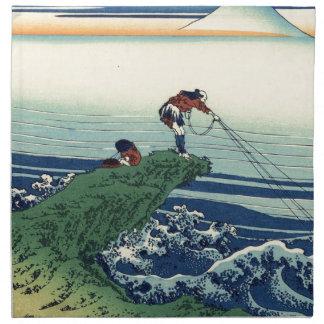 Japanese Hokusai Fuji View Landscape Napkin