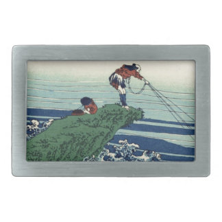 Japanese Hokusai Fuji View Landscape Rectangular Belt Buckles