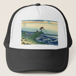 Japanese Hokusai Fuji View Landscape Trucker Hat