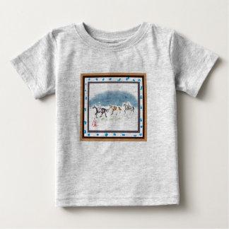 Japanese horse samurai art equestrian sumi tshirt