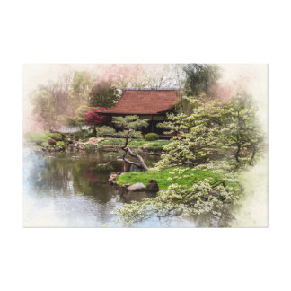 Japanese House and Garden Canvas Print