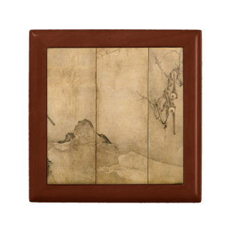 Japanese Ink on paper Gibbons Primates & Landscape Gift Box