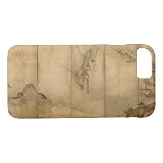 Japanese Ink on paper Gibbons Primates & Landscape iPhone 8/7 Case