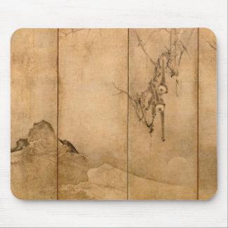 Japanese Ink on paper Gibbons Primates & Landscape Mouse Pad