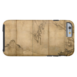 Japanese Ink on paper Gibbons Primates & Landscape Tough iPhone 6 Case