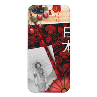 Japanese Inspired Red and Black iPhone Case iPhone 5 Covers