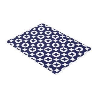 Japanese interlocking circles in Delft Blue Doormat