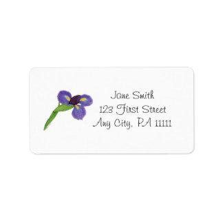 Japanese Iris Blossom Label