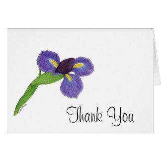 Japanese Iris Blossom Note Card