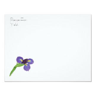 Japanese Iris Blossom Recipe Card 11 Cm X 14 Cm Invitation Card