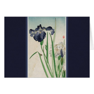 Japanese Iris Thank You Note Card