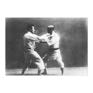 Japanese Judoka Jigoro Kano Kyuzo Mifue Judo Gallery Wrap Canvas