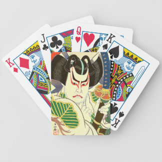 Japanese Kabuki Actor Art by Natori Shunsen 名取春仙 Bicycle Playing Cards