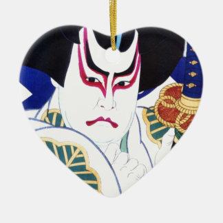 Japanese Kabuki Actor Art by Natori Shunsen 名取春仙 Ceramic Ornament
