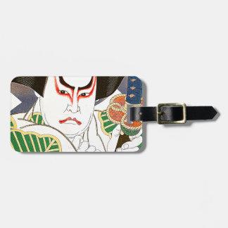 Japanese Kabuki Actor Art by Natori Shunsen 名取春仙 Luggage Tag