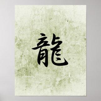 Japanese Kanji for Dragon - Ryuu Poster