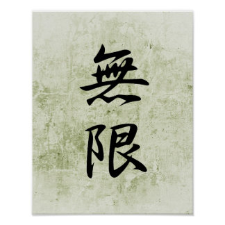 Japanese Kanji for Infinity - Mugen Poster