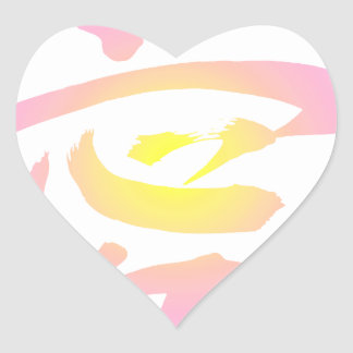 Japanese Kanji - Love Heart Sticker