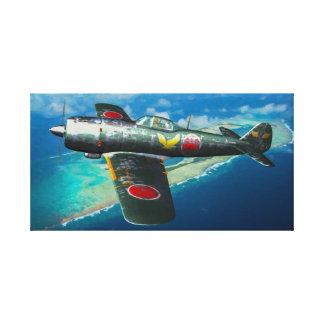 "Japanese Ki-84 ""Frank"" in flight Canvas Print"