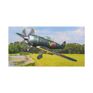 "Japanese Ki-84 ""Frank"" on Take Off Canvas Print"