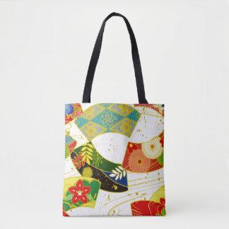 Japanese Kimono Fabric styled tote