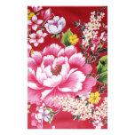 Japanese Kimono Flowers Personalised Stationery
