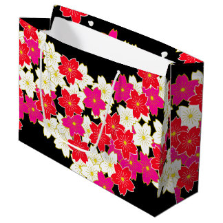 Japanese Kimono pattern Gift bag SAKURA