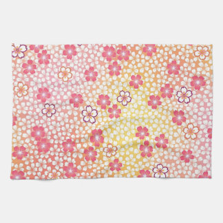Japanese KIMONO Textile, Cherry Blossoms Pattern Kitchen Towel