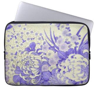 Japanese KIMONO Textile, Chrysanthemum Laptop Sleeve