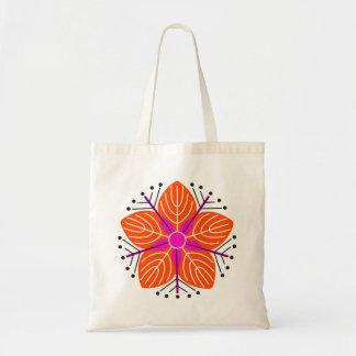 Japanese knotweed (orange) budget tote bag