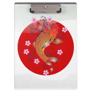 Japanese koi carp clipboard
