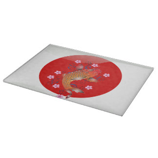 Japanese koi carp cutting board