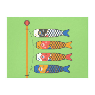 Japanese Koi Carp Windsocks Canvas Print