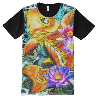 Japanese koi fish,carp fish All-Over print T-Shirt