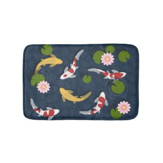 Japanese Koi Fish Pond Bath Mat