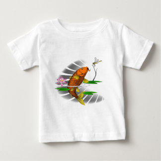 Japanese Koi Fish Pond Design Baby T-Shirt