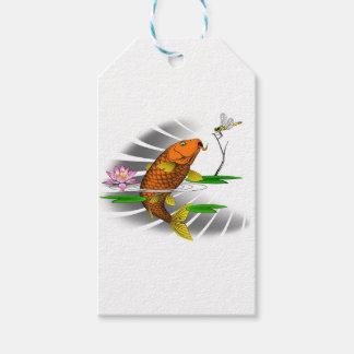 Japanese Koi Fish Pond Design Gift Tags