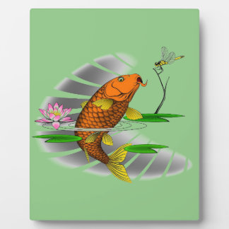 Japanese Koi Fish Pond Design Plaque