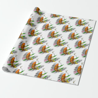 Japanese Koi Fish Pond Design Wrapping Paper