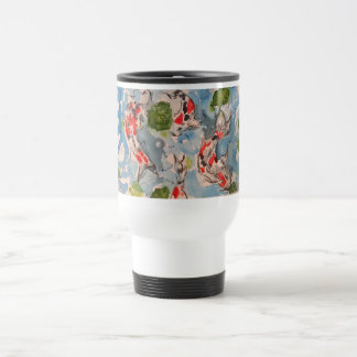 Japanese Koi Watercolor Travel Mug