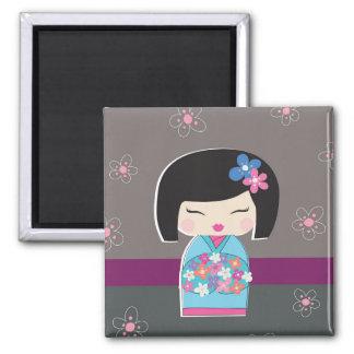 Japanese Kokeshi Doll Magnet