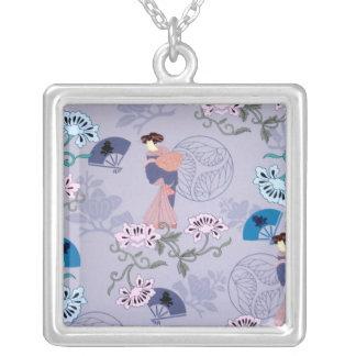 Japanese Ladies Purple Necklace