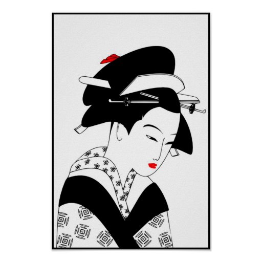 JAPANESE LADY1_POSTER POSTER